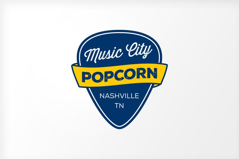 Logo Design Popcorn Company Nashville Logo Designers Franklin Brentwood